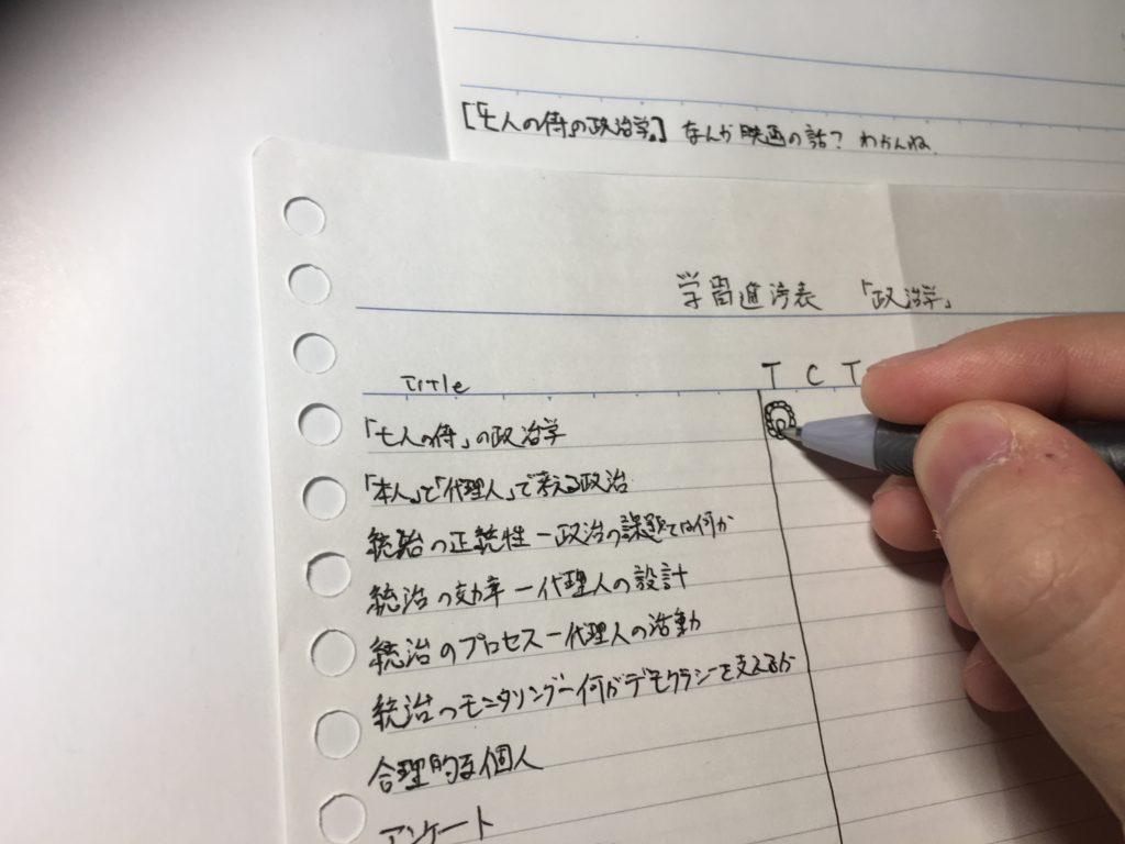 答案を書いたので学習進捗表に花丸を書きます。